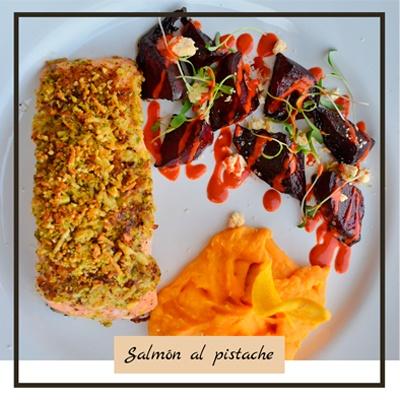 Salmon al pistache